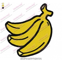 Cartoon Banana Fruit Embroidery Design 03